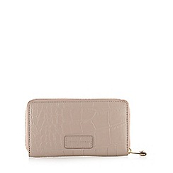 J by Jasper Conran - Designer pale pink mock croc large purse
