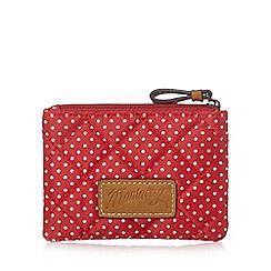 Mantaray - Red small polka dot quilted purse
