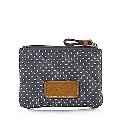 Mantaray - Blue quilted polka dot small purse