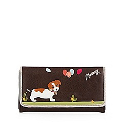 Mantaray - Brown large applique dog purse