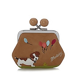 Mantaray - Light tan applique dog coin purse
