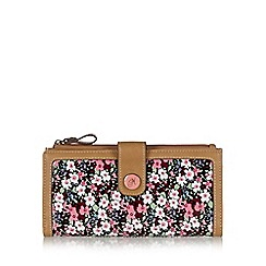 Mantaray - Pink floral coated canvas large purse