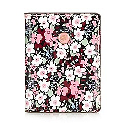 Mantaray - Pink floral coated canvas card holder