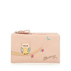 Mantaray - Pale pink applique owl medium purse