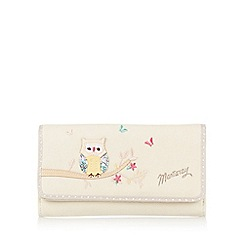 Mantaray - Cream applique owl large purse