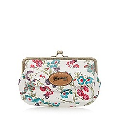 Mantaray - White floral long coin purse