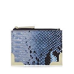 Star by Julien MacDonald - Designer blue snake skin coin purse