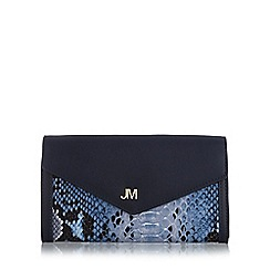 Star by Julien MacDonald - Designer blue animal print large purse