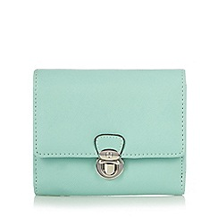The Collection - Light green push lock medium purse