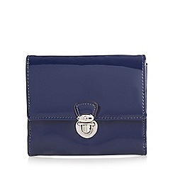 The Collection - Navy patent push lock medium purse