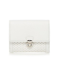 The Collection - White cutout push lock medium purse