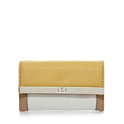 The Collection - Yellow colour block medium purse