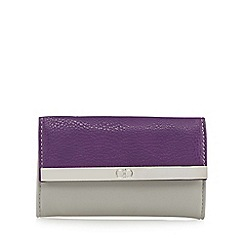 The Collection - Grey colour block metal bar fold over purse