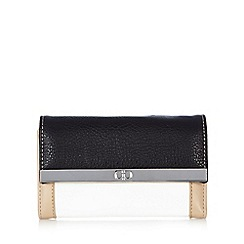 The Collection - Black colour block bar medium purse