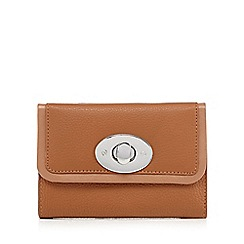 The Collection - Tan leather twist lock small purse