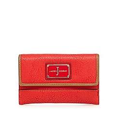 J by Jasper Conran - Red enamel logo medium purse