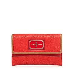 J by Jasper Conran - Red enamel logo medium purse