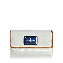 J by Jasper Conran - Designer white logo medium purse