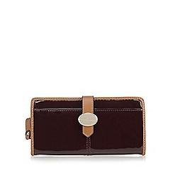J by Jasper Conran - Designer wine patent tab over purse