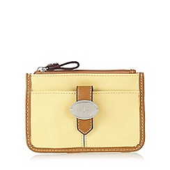 J by Jasper Conran - Designer light yellow coin patent purse