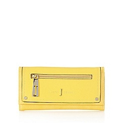 J by Jasper Conran - Designer yellow zip front large purse