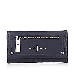 J by Jasper Conran - Designer navy zip front large purse
