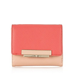 J by Jasper Conran - Designer pink colour block small purse