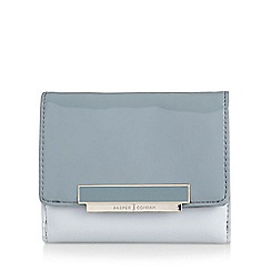 J by Jasper Conran - Designer grey patent fold over purse