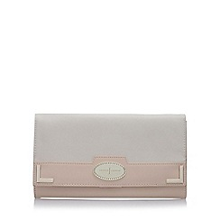 J by Jasper Conran - Designer pale pink colour block travel purse