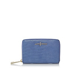 J by Jasper Conran - Designer blue leather reptile medium purse