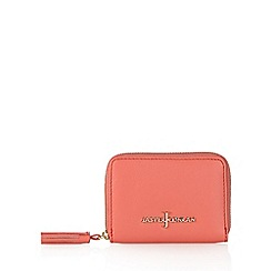 J by Jasper Conran - Designer coral leather zip around medium purse