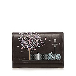 Bailey & Quinn - Black leather blossom applique medium purse