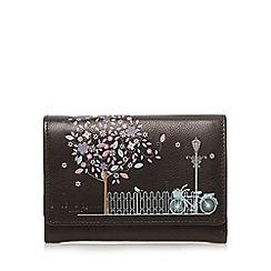 Bailey & Quinn - Black leather blossom applique medium purse