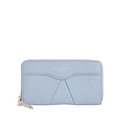 Bailey & Quinn - Pale blue 'Senna' leather pleated large purse