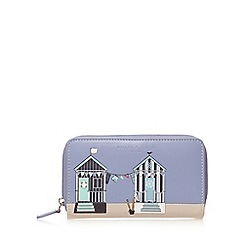 Bailey & Quinn - Blue leather beach hut medium purse