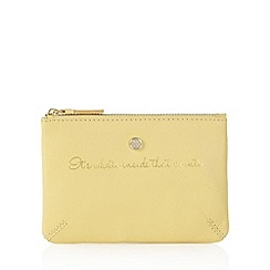 Bailey & Quinn - Yellow 'What's Inside' coin purse