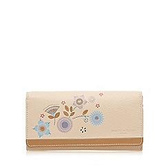 Bailey & Quinn - Cream leather floral large purse