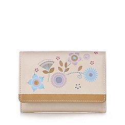 Bailey & Quinn - Cream leather floral applique medium purse