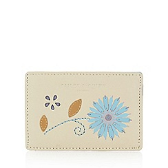Bailey & Quinn - Cream leather flower applique card holder