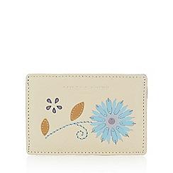 Bailey & Quinn - Cream leather flower applique card holder