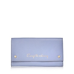 Bailey & Quinn - Pale blue 'Escape The Ordinary' travel case