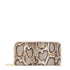Fiorelli - Natural faux snake print large zip around purse