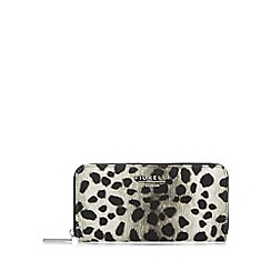 Fiorelli - Black leopard large zip around purse