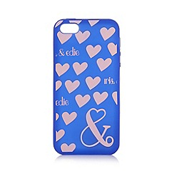 Iris & Edie - Purple heart print iPhone 5/5s cover