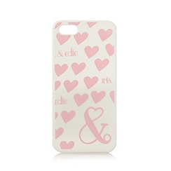 Iris & Edie - White heart print iPhone 5/5s cover