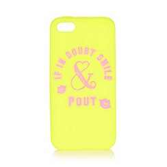 Iris & Edie - Lime slogan lips iPhone 5/5s cover