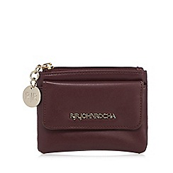 RJR.John Rocha - Designer dark red zip coin purse