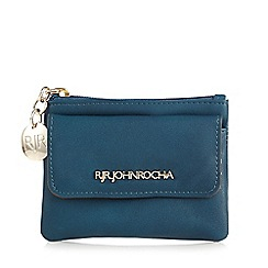 RJR.John Rocha - Designer dark turquoise zipped coin purse