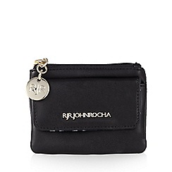 RJR.John Rocha - Designer black zip coin purse