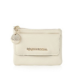 RJR.John Rocha - Designer cream zip coin purse